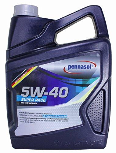 Pennasol Super Pace SAE 5W-40 Motoröl, 5 Liter