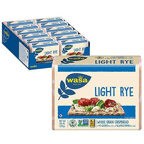 Wasa Light Rye Crispbread, 9.5 Ounce (Pack of 12)