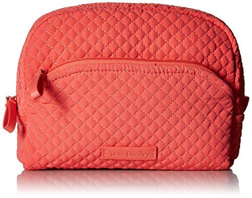 Vera Bradley Microfiber Medium Cosmetic Makeup Organizer Bag, Coral Reef