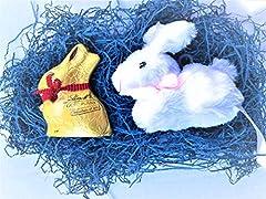 Idea Regalo - Lindt Lindor Pasqua - Lindt Gold Bunny Latte 50g + Peluche Coniglietto Bianco