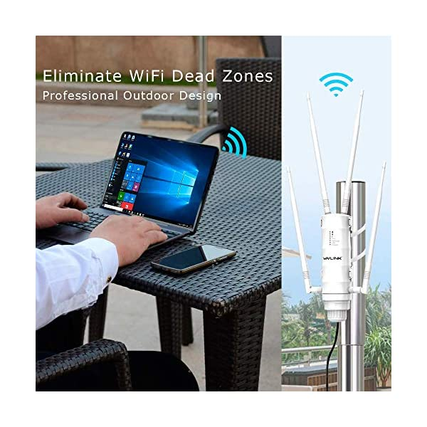 WAVLINK AC1200 High Power Outdoor Weatherproof WiFi Range Extender/Wireless Access Point/Mesh with Passive POE, Dual…