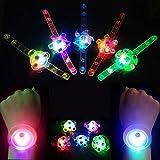 CYKT Kids Party Supplies Lot de 12 Bracelets Lumineux Anneaux Brillent dans Le Noir Fournitures de fête, Cadeaux, Cadeaux d'anniversaire pour garçons âgés de 3 à 12 Ans.