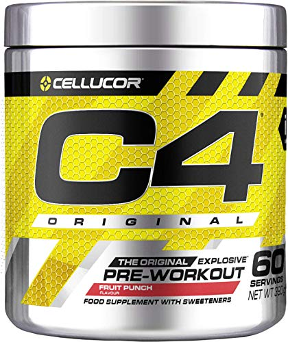 C4 Original Pre Workout Powder Fruit Punch | Preworkout Energy Drink Supplement | 150mg Caffeine + Beta Alanine + Creatine Monohydrate | 60 Servings
