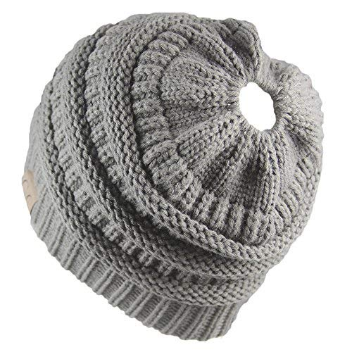 Crochet Mujeres Invierno Gorro de Lana Tejer Beanie Casquillos Calient