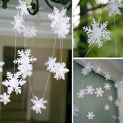 XdiseD9Xsmao Lichte hangende sneeuwvlok slinger ornament Frozen Winter Wonderland Xmas Party Decoratie voor kerstdecoratie