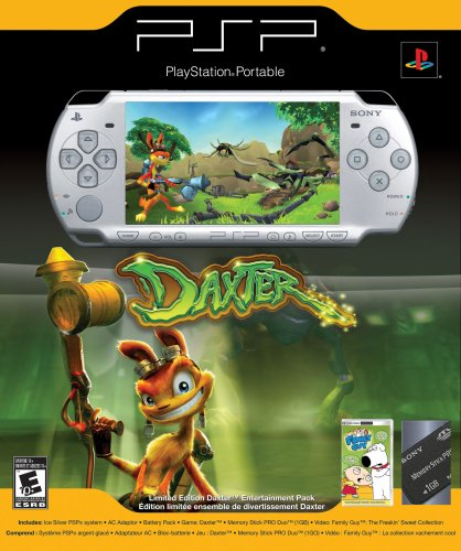 games for psps PlayStation Portable Limited Edition Daxter Entertainment Pack - Ice Silver