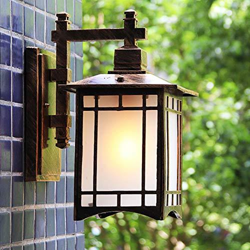 HIL retro LED-wandlamp, waterdicht, voor Europese Villa, wandlamp, bronskleuren, voor deur en hek, wandlicht, gemaakt van legering, waterdicht buiten