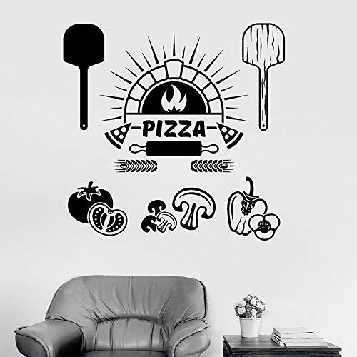HGFDHG Etiqueta de la Pared de los Ingredientes de los Alimentos Pizza Restaurante Italiano Cocina Decoración de Interiores Cocina Refrigerador Ventana Etiqueta de Vinilo Arte Mural