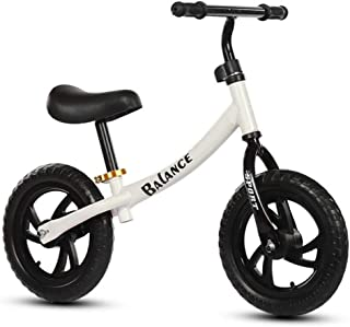 Playmate 12 Inch Sport Balance Bike No Pedal Children Walking Bike Kid's Bike Suitable For 2-6 Years Old (White)