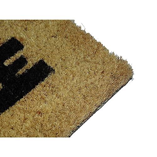 koko doormats felpudos Entrada casa Originales, Fibra de Coco y PVC, Felpudo Exterior Reglas DE LA CASA, 40x60x1.5 cm | Alfombra Puerta Entrada casa Exterior | Felpudos Divertidos para Puerta