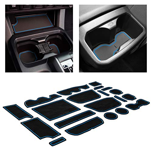 CupHolderHero for Toyota Tacoma Accessories 2016-2020 Premium Custom Interior Non-Slip Anti Dust Cup Holder Inserts, Center Console Liner Mats, Door Pocket Liners 20-pc Set (Access Cab) (Red Trim)