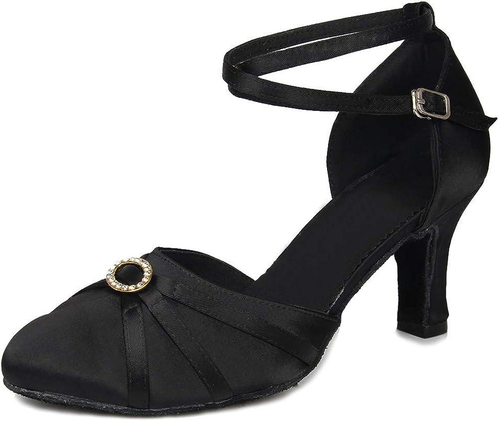 SWDZM Women's Ballroom Dance Shoes Closed Toe Latin Salsa Tango
