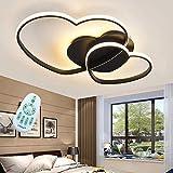 LED Deckenleuchte Modern Liebe Herz Design Deckenlampe Warme Romantische Dimmbar Fernbedienung Kronleuchter Acryl Schirm Deckenlicht Wohnzimmerlampe Esszimmer Schlafzimmer Küchen Flur Lampen,Schwarz