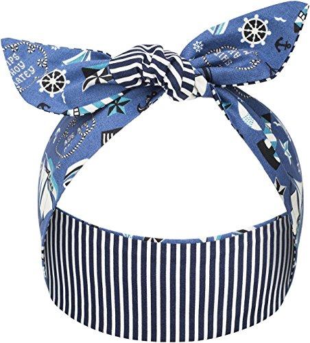 Küstenluder Meggan Nautical Stripes Maritime Haarband Hair Band Rockabilly