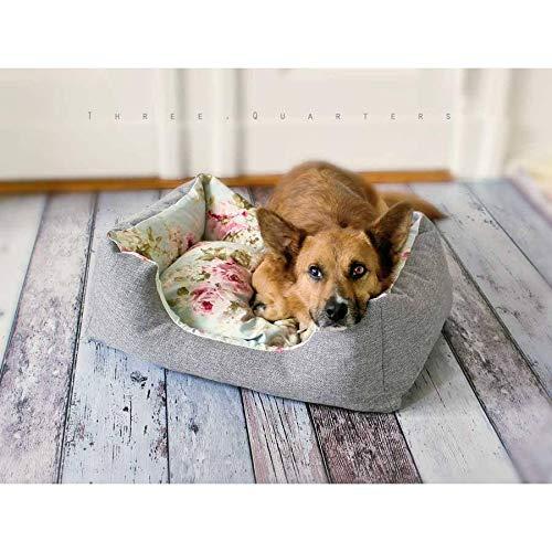 Hundebett, Katzenbett, Rosen, shabby, vintage, Katze, Hund, Welpe, Blumen, Haustier, Bulldogge, Mops, Chihuahua, Frenchie