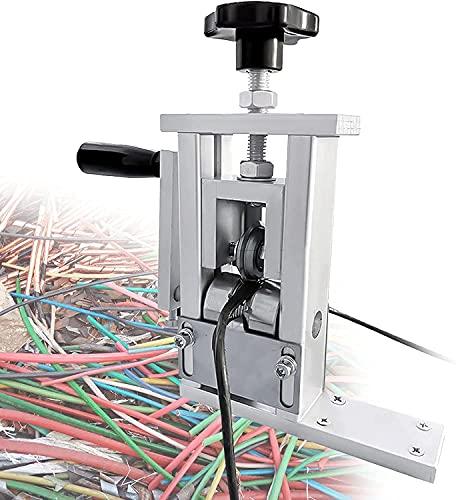 FCPLLTR Máquina de recipiente de cobre de chatarra Herramienta de pelado de alambre eléctrico con cuchilla de acero de alta velocidad 1-100 cuadrado (1-24 mm) Puede conectar taladro eléctrico Stripper