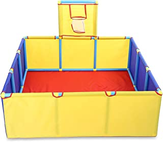 AODD Kids Ball Pit Playpen Ball Tent, Portable Foldable Children Ball Pit Tent Sea Ball Pool with Basketball Hoop, is Very Strong and Durable, Suitable for Toddlers Indoor Outdoor Play
