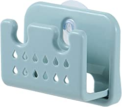 BESTONZON Wall Mounted Sponge Storage Rack Kitchen Sink Shelf soap Sponge Drain Rack for Kitchen Bathroom(Blue)