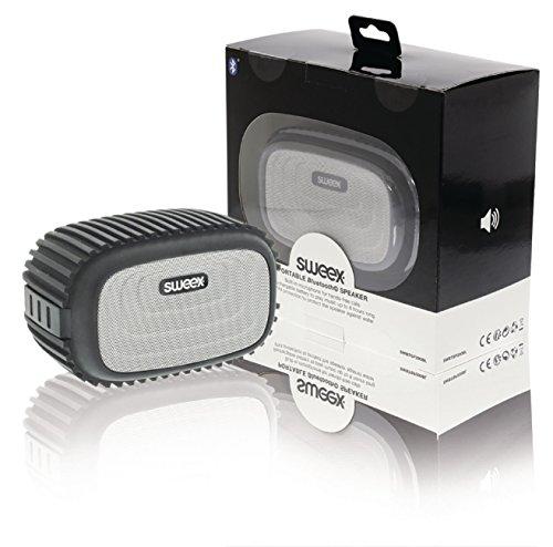 SWEEX Bluetooth Lautsprecher 4 W Integriertes Mikrofon Schwarz/Silber