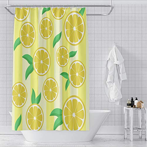 Nobrand Douchegordijn, fris, met citroen bedrukt, waterdichte meeldauw, antibacteriële decoratieve badkamer douchecabine