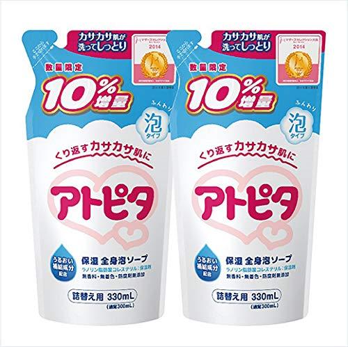 【Amazon.co.jp 限定】【まとめ買い】アトピタ保湿全身泡ソープ詰替え10%増量×2個セット