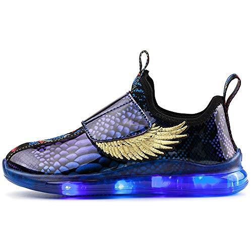 Farbwechsel Schuhe,Leuchtende Schuhe, 7 Farben LED Schuhe USB Aufladen Leuchtschuhe Licht Blinkschuhe Sport Sneaker Light Up Turnschuhe Damen Herren