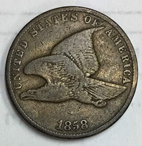 1858 Flying Eagle Penny Small Letters 1c VG