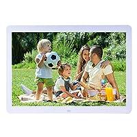 ACHICOO デジタルフォトフレーム 電子写真アルバム 15インチワイドスクリーン HD LED 1280X800アルバム リモコン付き 時計 カレンダー MP3 MP4ムービープレーヤー 白い 日本適用プラグ
