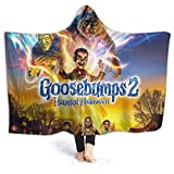 Goos-Ebumps Halloween Wearable Blanket Super Soft Hooded Blanket 3D Printed Soft Warm for Adults Kids 50'X40'
