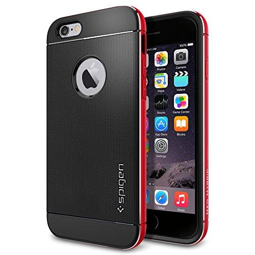 iPhone 6 ケース, Spigen®  リアル アルミニウム バンパー ネオ・ハイブリッド メタル iPhone 4.7 (2014)  The New iPhone アイフォン6 (国内正規品) (メタル・レッド 【SGP11040】)
