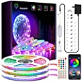 50ft LED Strip Lights, Keepsmile Ultra-Long RGB Led Lights Strip Music Sync Color Changing Strip Lights APP Control + 44Key Remote, LED Lights for Bedroom Party Home Decoration(3 X 16.4ft)