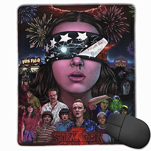Cool Stranger Things Mouse Pad Funny Awesome Customized, Personalized Your Gaming Mousepad Rectangle