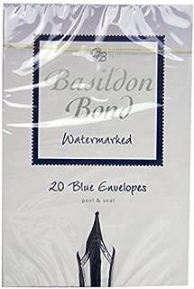 Basildon Bond Blue Envelopes - Watermarked - Pack of 20 - Size 5.6 X 3.7