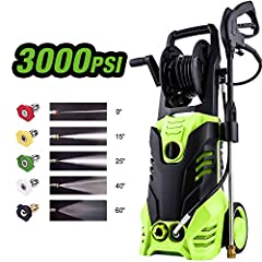 ✓Multi-fuctional -washer with hose reel :Ideal Pressure Cleaning Solution for all Type of Vehicles ,Cars ,SUV's ,ATV's,Boats,RVs,and Homes,Driveways,Decks and etcs. Easily gets rid of Dirt ,Grime ,Gunk ,Oil ,and so on,It has outdoor cleaning power to...