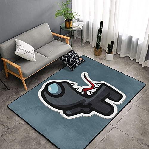 カーペットアモングアスamong Us 人気のあると手触り優しいフランネルラグカーペット洗えるラグ 滑り止め付 折り畳み 防ダニ 抗菌 防臭 ふわっラグマット絨毯
