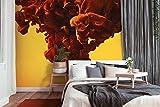 Wall Art - Póster de pared con cámara lenta (lavable, tamaño XXL, efecto 3D, 3,50 x 2,55 m), color amarillo