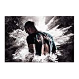 Weltberühmter Fußballspieler Iniesta Illustration Sport