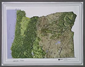 oregon raised relief map