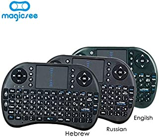 Calvas Magicsee i8 Mini Wireless Keyboard Remote Control with Russian English Hebrew Arabic 4 versions Air Mouse For Smart...