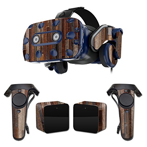 MightySkins Skin Compatible with HTC Vive Pro VR Headset - Woody | Protective, Durable, and Unique Vinyl Decal wrap Cover | Easy to Apply, Remove, and Change Styles | Made in The USA Maryland