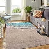 Veryday Alfombra moderna de playa océano, alfombra para el salón, como felpudo para la puerta del hogar, para dormitorio o cocina, color blanco, 50 x 80 cm
