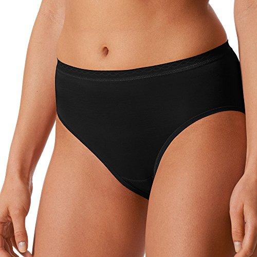Mey 2er Pack Damen Hüftslips Lights - 89202 - Schwarz - Größe 42 - Damen Hipster ohne Seitennähte - Baumwolle + Viskose