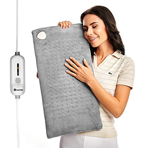 Best Price Heating Pad XL Large - Electric Heat Pad for Moist and Dry Therapy - Fast Back Neck Menst...
