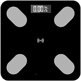 Sansund Smart Body Fat Body - Báscula electrónica de pesaje con Bluetooth, medición de alta precisión para IMC