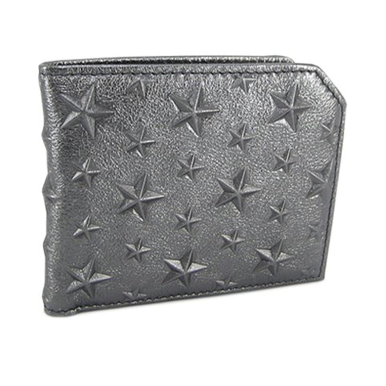 農学考古学的な補助ジミーチュウ JIMMY CHOO メンズ 2つ折財布 サイフ ALBANY EBN GUNMETAL ガンメタル [並行輸入品]