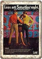 リージーンズスラックスファストバックウォールメタルポスターレトロプラーク警告ブリキサインヴィンテージ鉄絵画装飾オフィスの寝室のリビングルームクラブのための面白いハンギングクラフト