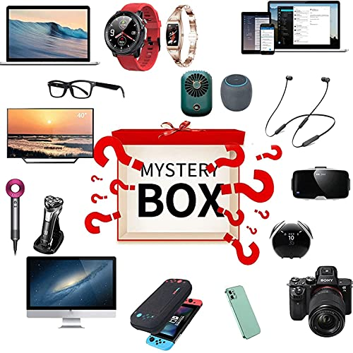 WRISCG Scatola cieca Lucky Box Mystery Boxes Mystery Box, (Electronic Equipment) Can be Opened: The Latest Mobile Phones, Drone, Smart Watches, Air Purifiers Etc - Everything is Possible!