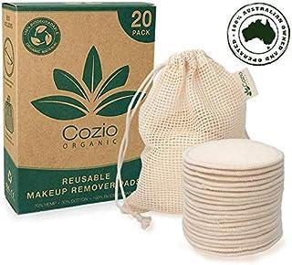 20x Reusable Makeup Remover Pads - Reusable Cotton Pads - Pad Makeup Wipe Reusable - Zero-Waste, Natural & Organic Face Wi...
