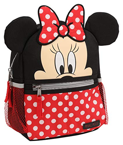 Disney Minnie Mouse Toddler Girls Mini Backpack with Harness Straps & Critter Ears & Minnie Polka Dots Print