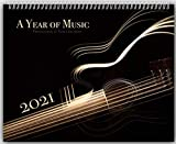 A Year of Music 2021 Wall Calendar Large 11x14' Fine Art Photography Musical Instrument Gift for Musician Trumpet Bass Guitar Clarinet Violin 14x23 Glossy